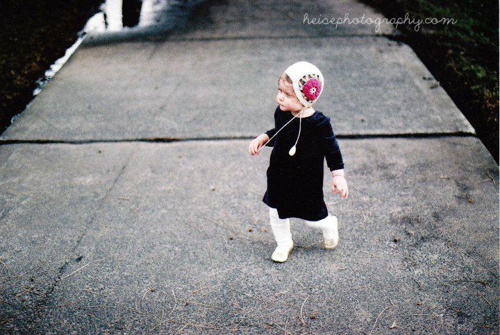 Vintage Baby Flower Bonnet Crochetlatte