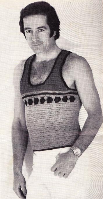mans vintage crochet pattern