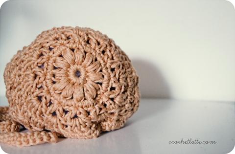 apricot baby bonnet free pattern